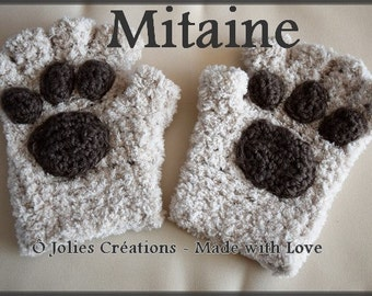 Mittens Cat Paws PDF Pattern Crochet