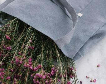 Linen Market Tote in Smoke Gray