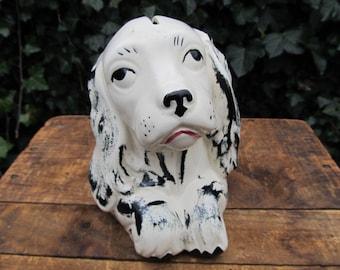 Vintage Ceramic Dog Bank - Spaniel Bank