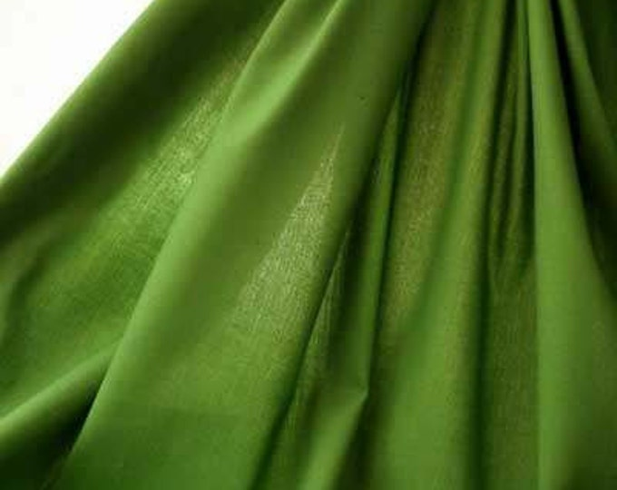 Peridot Green Christmas Fabric - The PERFECT GREEN Cotton Broadcloth Solid 58-Inches Wide