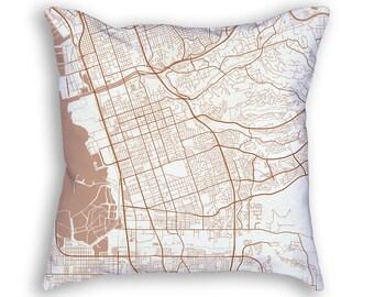 Chula Vista California City Street Map Throw Pillow