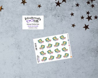 Ginny the Giraffe Chills Out - Cute Stickers - Planner Stickers - Character Sampler - UK