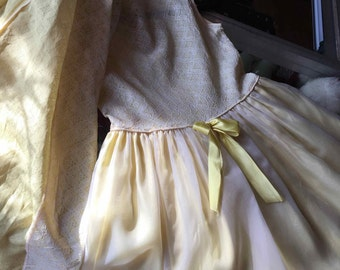 Vintage 1960's Yellow and White 2 Piece Child's Dress