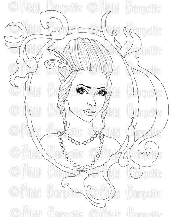 Digital Stamp Printable Coloring Page Baroque With or