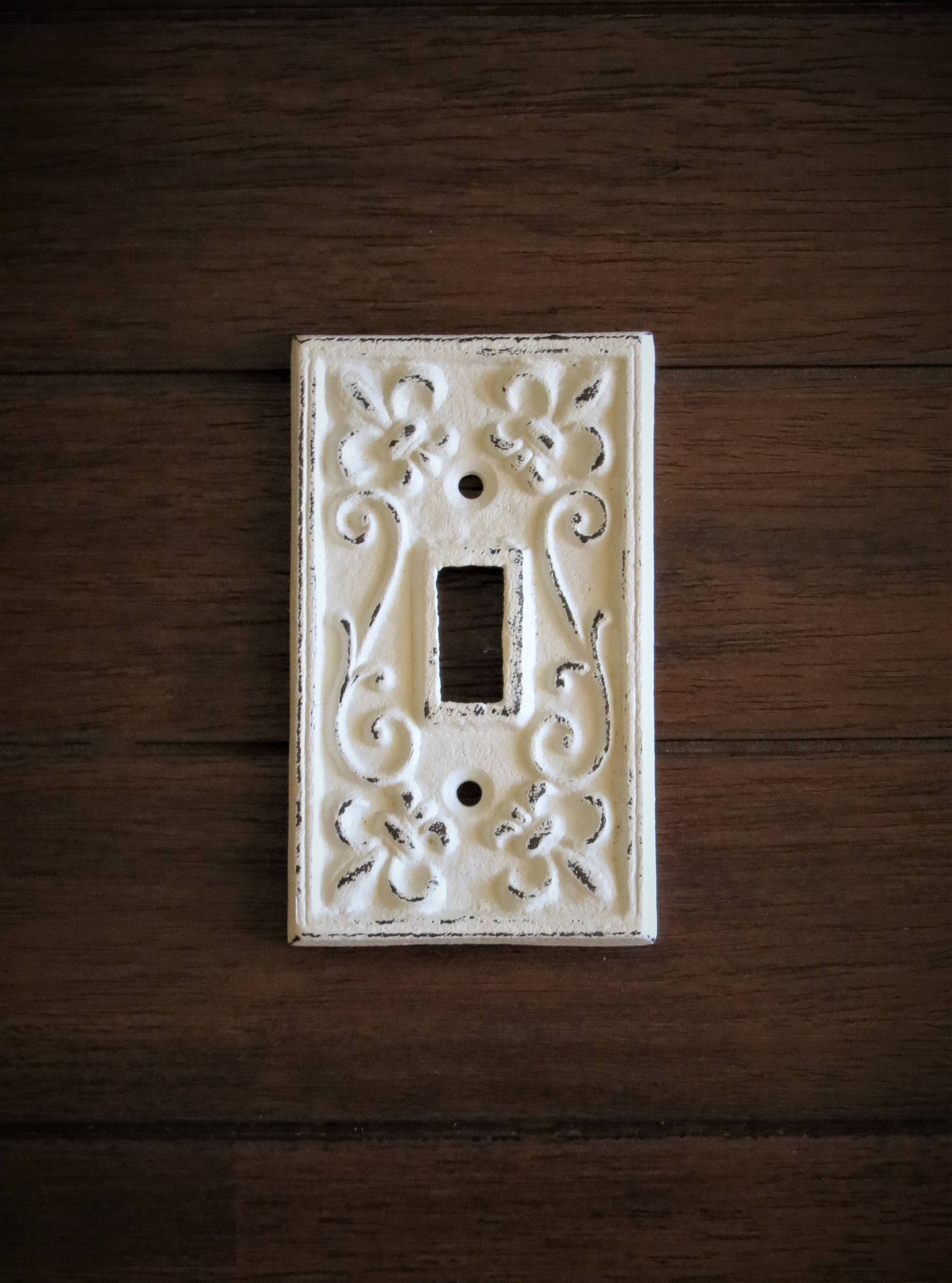 Decorative Light Switch Wall Plates Mesmerizing Light Switch Plate  Light Plate Cover  Cast Iron Switchplate Inspiration