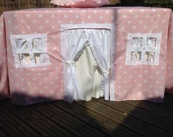 Fabric Playhouse , Tablecloth Playhouse, playhouse, indoor/outdoor playhouse