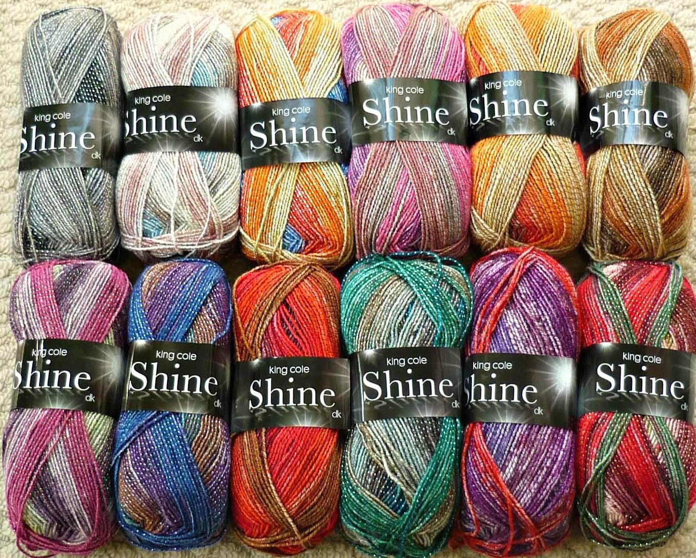 Knitting Wool/Yarn King Cole Shine Double Knitting Light