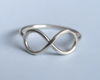 Infinity Symbol Ring Sterling Silver Infinity Ring