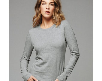 Women's Long Sleeve T-shirt - Custom Colors for Any Design in Our Shop - Ladies Tee