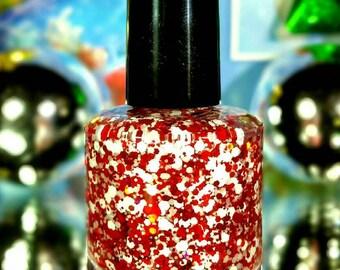 We Wish You A Merry Christmas handmade artisan nail polish
