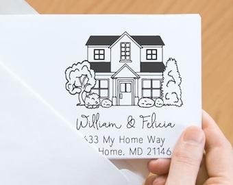 House portrait return address stamp-23