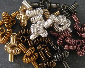 Hand Coiled Beads - Your Choice of Color Quantity 6