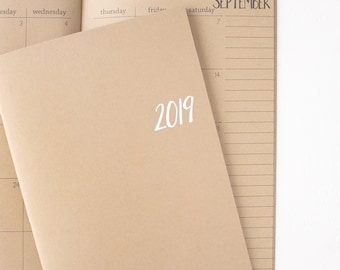 2019 kraft monthly planner | 2 pages per month