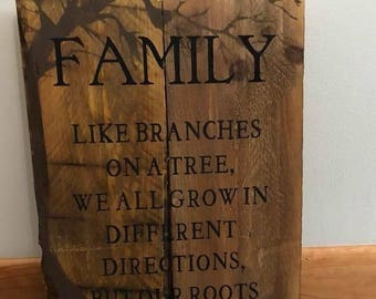 12x18 wood family saying sign