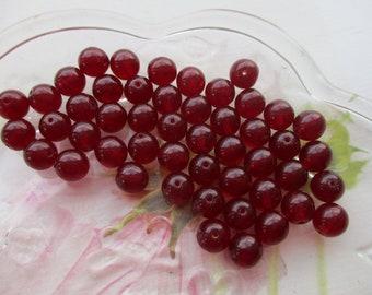 Czech Preciosa 8mm Garnet Glass Beads 30pcs.