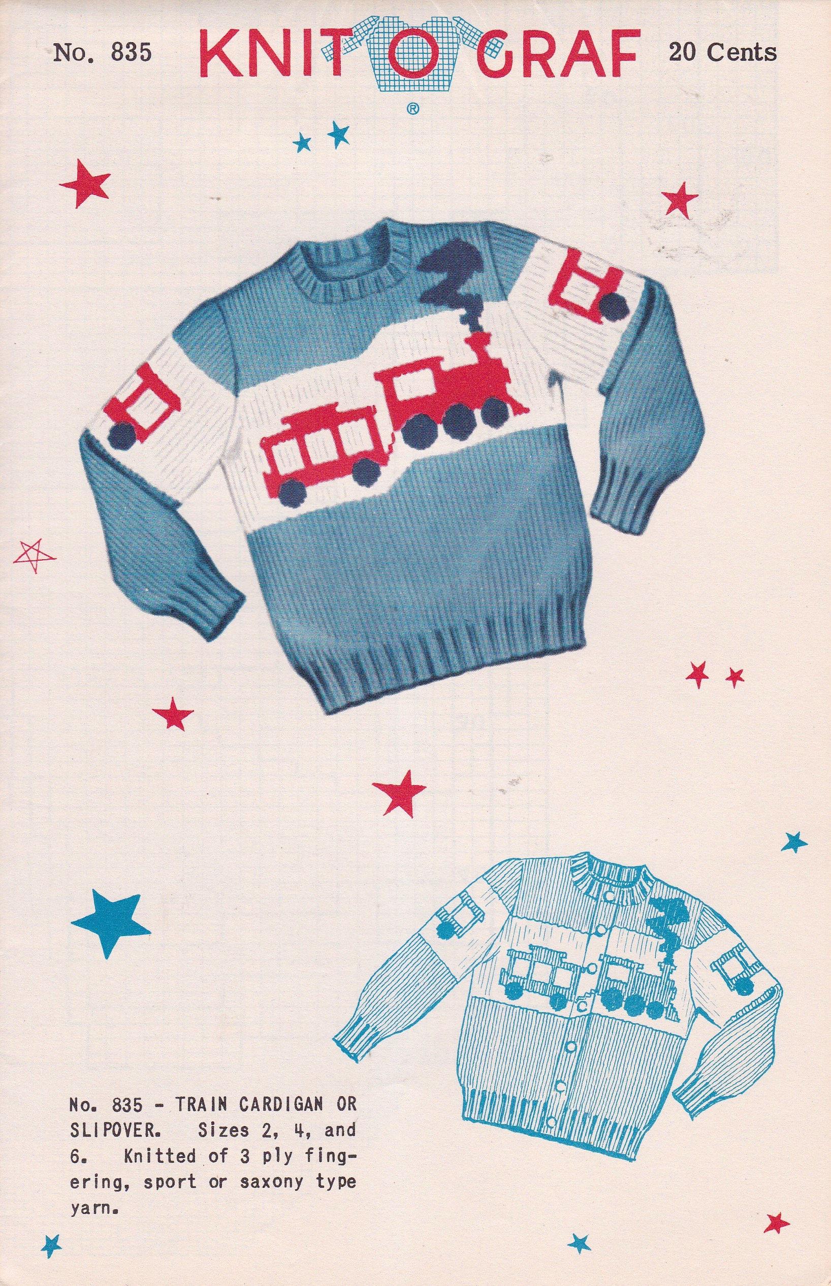 Children\'s Train Cardigan or Pullover Train Sweater Fair