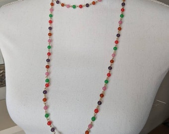 Vintage Colorful Small Bead Necklace