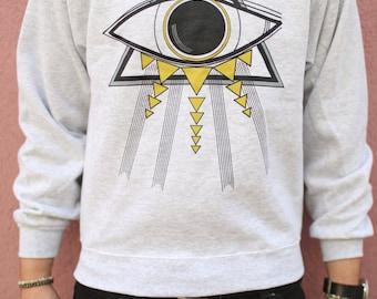 All Seeing Eye Crew Neck Sacred Geometry Sweater