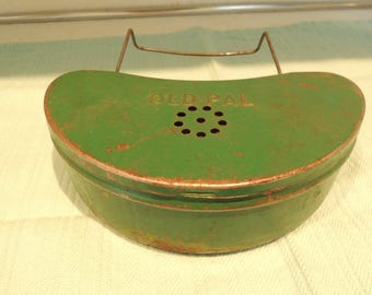 Old Pal Bait Box, Fisherman's friend, Worm holder, Minnow can, Great condition, Vintage