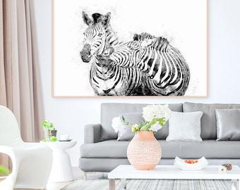 Zebra Print, Summer Print, Animal Print, Zebra Wall Art, Bedroom Decor,
