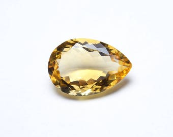 AAA Natural African Citrine pear faceted gemstone 12.5x18.2x7.4mm Luster Citrine sp4
