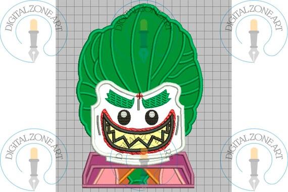 Joker Lego Applique-Joker Lego Portrait Head-Lego-Machine