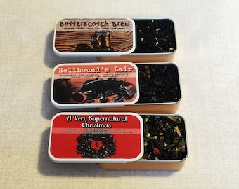 Limited Holiday Fandom Inspired Tea Tin- Supernatural and Harry Potter