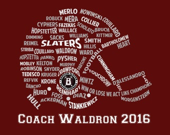 Football Helmet Coaches Gift! Personalized!