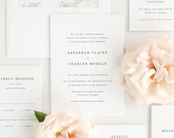 Savannah Wedding Invitations - Sample
