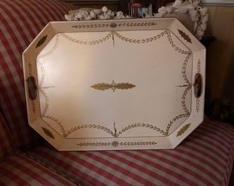 Regency FrenchChic Romantic Cottage Tole Tray