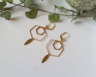 Geometric Hexagon earrings