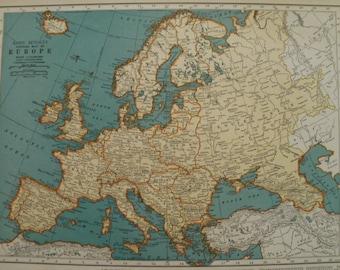1939 italy map etsy europe mapbritish isles mapireland scotland england spain france germany italy poland gumiabroncs Images