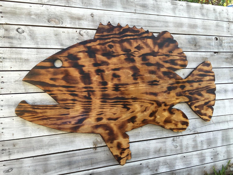 Large Leaf Wall Decor Amusing Large Outdoor Wall Art Fish Decor Coastal Fish Sign Goliath Inspiration