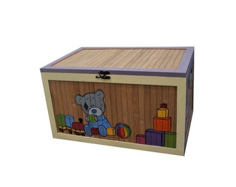 Toy wooden box, handpainted