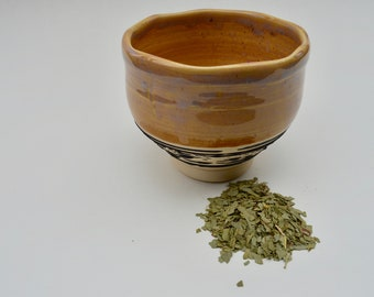 Japanese Chawan Teabowl Tea Ceremony Traditional Ceramic Pottery Handmade Teacup Bowl w/ Decortion- READY TO SHIP