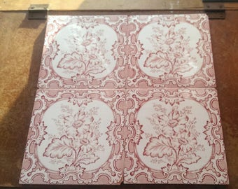 Very pretty original Victorian / Edwardian tiles: available as a set or singly