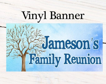 Family Reunion Photo Banner ~ Personalized Party Banners- Family Tree Banner, Reunion Party Banner, Printed Vinyl Banner, Vinyl Banner