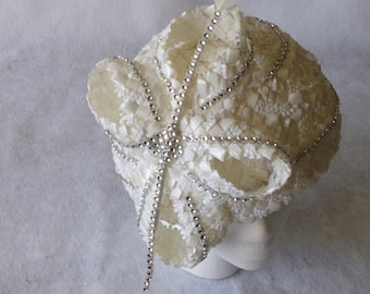 White Church Hat for women, White Church hat, White Formal hat, Mother's Day hat,tea party hat,Special Occasion Hat, Mother of the Bride hat