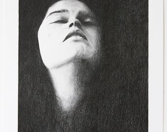 Original drawing of a sad women