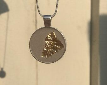 Concrete Gold Leaf Necklace