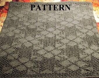 Knitting Pattern Baby Blanket, Knit Baby Blanket Pattern, Knitting Pattern, Chunky Yarn Pattern, Bulky Yarn Pattern, Knit Purl Stitch Only