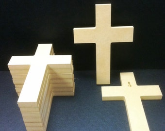 100 Unpainted 6'' x 9'' Crosses  1.25 each, Great for VBS. Free Shipping.  6-24F