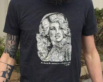 Dolly Parton Unisex/men's T-Shirt (Heather black)