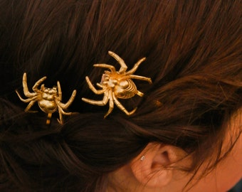 halloween hair pin spider bobby pins gold spider hair clip goth spiders hair clip costume hair pin hair accessories costume hair barrette
