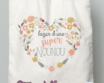"""TOTE BAG nanny gift nanny """"Bazaar great nanny"""""""
