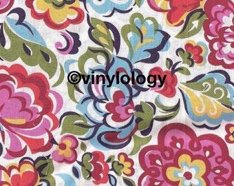 Aqua Floral 651 Adhesive Vinyl
