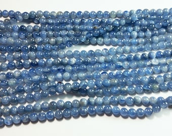 Genuine Kyanite Round Ball Beads 5mm
