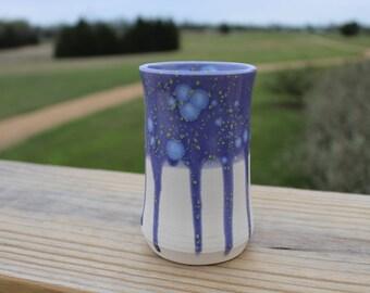 Handmade Purple Porcelain Bud Vase Wheel Thrown Pottery