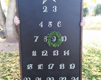 Advent Calendar / Magnolia Farmhouse / Christmas Countdown Calendar / FixerUpper Style / Hand Letterinmg / Handmade / home decor/ Black