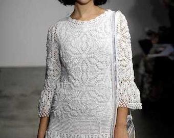 Crocheted dress white, made to order, crochet handmade, spring dress, summer dress, lace dress, bridal gown, Dress crochet, wedding gown